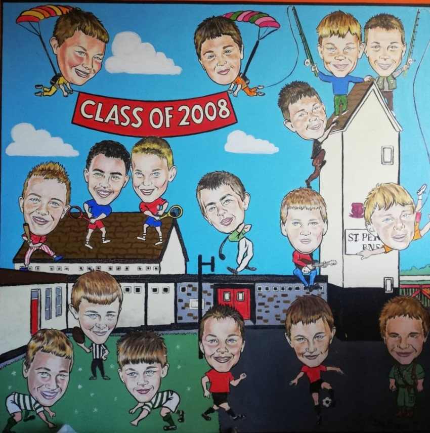 This was the first ever mural in St. Peter's!