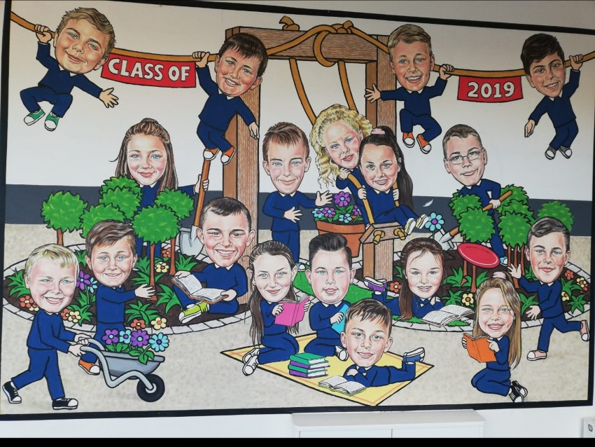 The Class of 2019 included Jodie's Garden in their mural