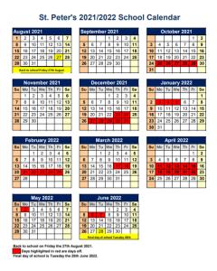 2021 22 School Calendar